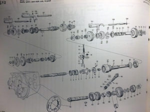 Exploded SAAB Gearbox Parts Diagram